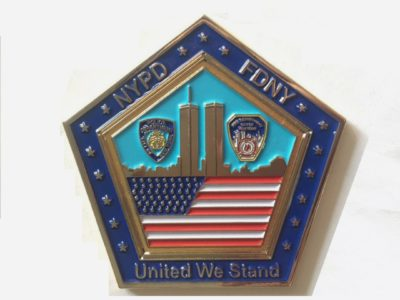 9/11 challenge coins, september 11th challenge coins