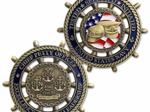 navy ship coins, navy challenge coins, chiefs mess coins, chiefs mess challenge coins,