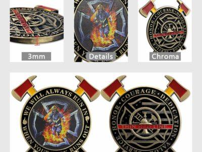 firefighter challenge coins, custom firefighter challenge coins, custom challenge coins Home 718UX9KT8HL