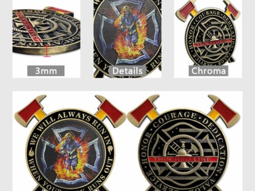firefighter challenge coins, custom firefighter challenge coins,
