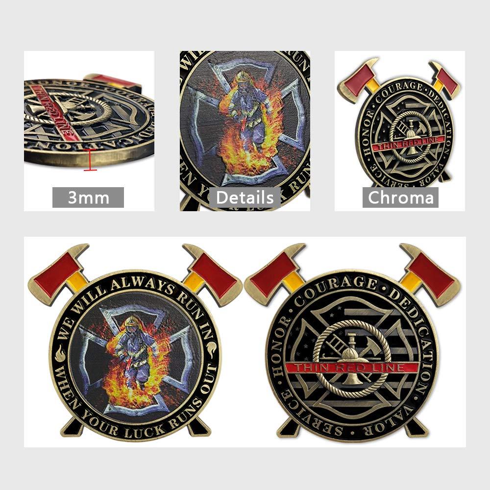 firefighter challenge coins, custom firefighter challenge coins,