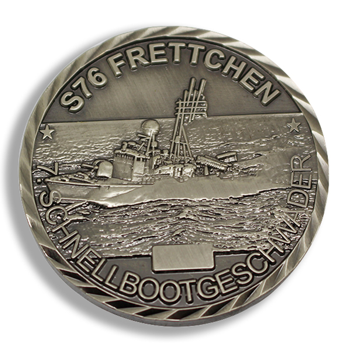 navy ship coin, navy ship coins, custom challenge coins no minimums, custom coins cheap
